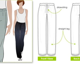 Anna Pant // Sizes 16, 18 & 20 // Women's Sewing Pattern for Instant Download