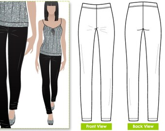 Women's Sewing Pattern - Elle Pant - Sizes 10, 12, 14 - Slim Line Stretch Pant Pattern by Style Arc