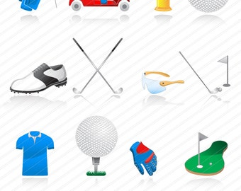 Golf clipart ,Golf SPORTS, Instant Download, Sport Digital Clipart Vector