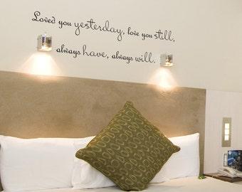 Bedroom Wall Decor Romantic bedroom word art | etsy
