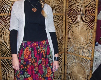Romantic Vintage Floral Skirt