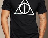Deathly Hallows  Harry Potter  TShirt S M L XL 2XL  Handmade