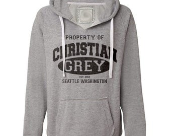 Christian Grey Hoodie 50 Fifty Shades of Grey Shirt Hooded Sweatshirt. Sizes S-2XL.