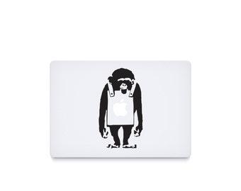 Banksy Monkey-----Macbook Decal Macbook Sticker Mac Decal Mac Sticker Decal for Apple Laptop Macbook Pro / Macbook Air / iPad/MINI