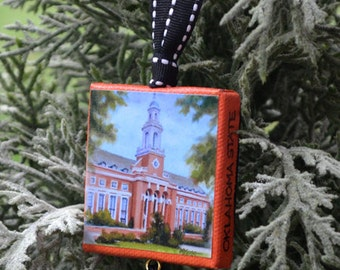 OKLAHOMA STATE University Ornament or Magnet / College Ornament or Magnet / OSU Mini Canvas Ornament or Magnet