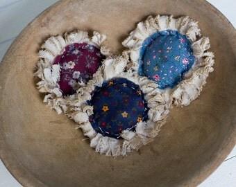 Prim Flower Bowl fillers - Set of 3