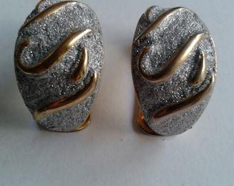 Vintage Gold & Silver Tone Earrings