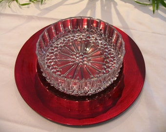 Vintage lead crystal glass bowl