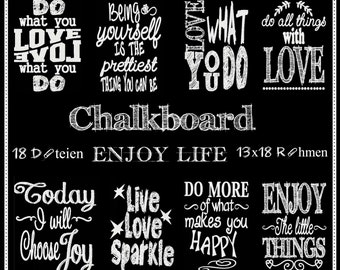 Embroidery files chalkboard