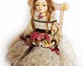 Art doll - Handmade interior OOAK doll Regina - 7.4 inch.