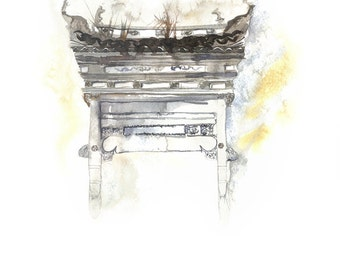 Chinese painting | Chinese watercolor | Chinese wall art | Digital Download High res 300 dpi