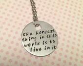 Buffy Quote Necklace - Fangirl Jewelry - Fandom Jewelry - Vampire Slayer Inspired Jewelry