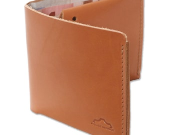 Wallet, business card holder leather. Minimal Leather Wallet