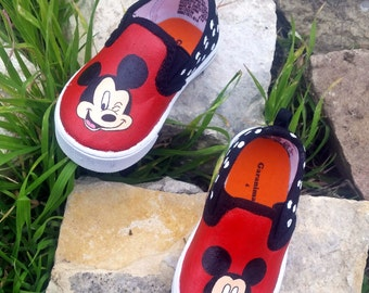 Mickey Mouse Inspired Toddler Shoes