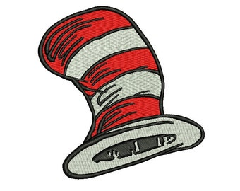 Dr Seuss Embroidery Design - 3 sizes Instant Download