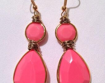 Pale Pink Drop Earring