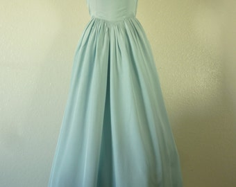 1930's -40's Baby Blue Party Gown. Bust 33-34 inch