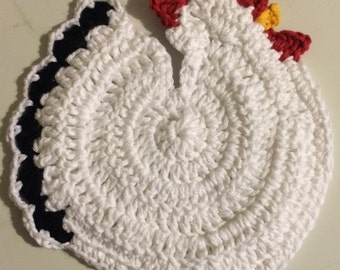 Crochet Rooster Pot Holder