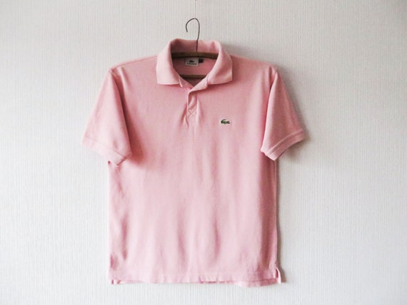 Petal light pink lacoste mens polo bubblegum pink short sleeve for Baby pink polo shirt