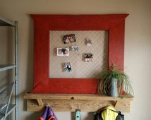 Picture frame, big picture frame, twine picture frame, clothespin picture frame, picture organizer frame, southwestern pictures wall frame