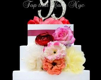 Large Monogram Letter B OR A Cake Topper In Rhinestones Wedding Birthday Bling