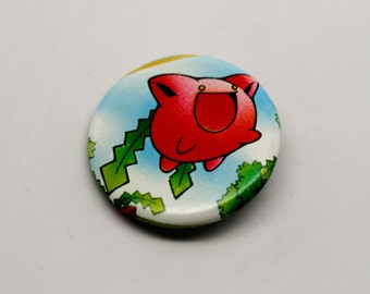 Hoppip Neo Discovery Edition - 1.25'' (inches) Pinback Button - Made from REAL Pokemon Card!