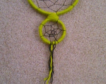 Green and Black Double Dream Catcher