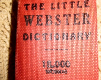 The Little Webster's Dictionary Miniature Book