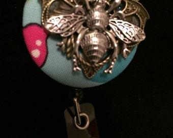 Honeybee Blues -Nurse Retractable ID Badge Reel/ RN Badge Holder/Doctor Badge Reel/Nurse Badge Holder/Nursing Student Gifts