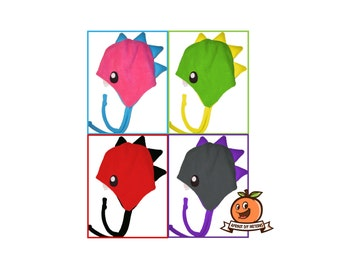 Fleece Dinosaur Hat - PDF Sewing Pattern and Tutorial