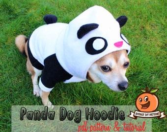 Dog Panda Bear Hoodie Costume MED-XL Pdf Pattern and full tutorial