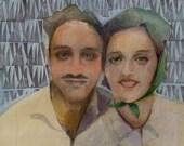 Nostalgic Couple Portrait...