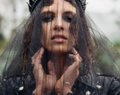 Black Blade Handmade Crown - Headpiece - by Loschy Designs