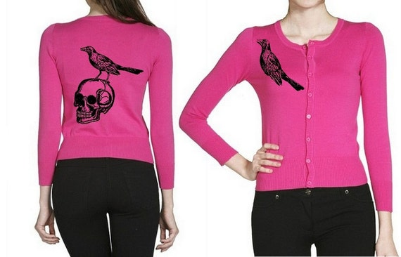 skull cardigan plus size sweater shirts punk womens