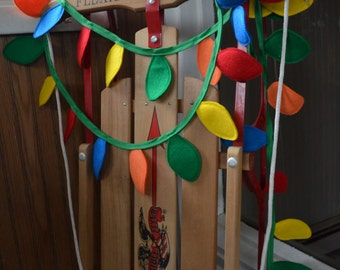 Old Fashioned Christmas Lights Garland