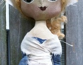 Pilgrim Stump Doll Primitive Folk Art Thanksgiving