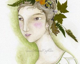 MarmeeCraft art print, 'Moss Flower'