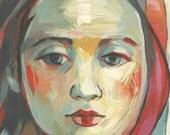 Pale Woman - Original Painting - 5x7 - Oil on Panel KEELYART