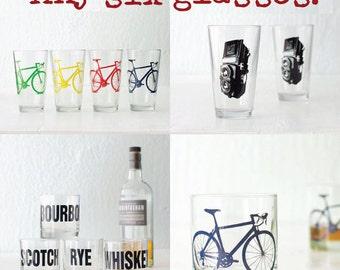 Any six glasses