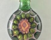 Boro Glass Pendant Bead Fume Gold Implossion Silver  --Dan Rushin