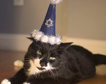 Happy Hanukkah Cat Hat