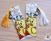 2 Pack: HOT CHICK Funny Pun Handmade Bookmark, Sizzling Hot Chick Mother's Day, Easter, Birthday, or Any Day Gift for Her!