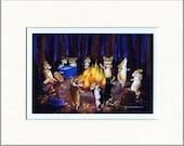 "Evie Anderson Pembroke Welsh Corgi Art SIGNED PRINT ""Autumn Bonfire""  (signed, matted)"