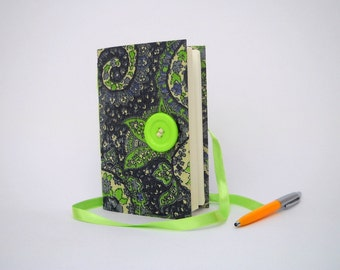 Blue green journal diary notebook Lined writing journal Blue paisley flowers, Handmade journals, Gift for mom, writing book, lined notebook