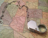 Working Magnifying Glass, Jeweler's Loupe Necklace, Jeweler's Loupe, Magnifying Glass,  Magnifying Glass Charm,  Magnifying Glass Necklace