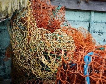 Fishing Net, Co. DONEGAL, Irish Sea, IRELAND, Fisherman Decor, Angler Gift, Colorful Abstract Photo, Macro Photography, Fishing Art,Nautical