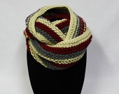 Trine Cowl knitting PATTERN - three color warm bulky cowl - permission to sell finished items