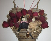 AlTerEd aRt KeY tO MY HeArT VaLeNtiNes DaY WaLL DeCoR SkElEtOns wOOd HeArt