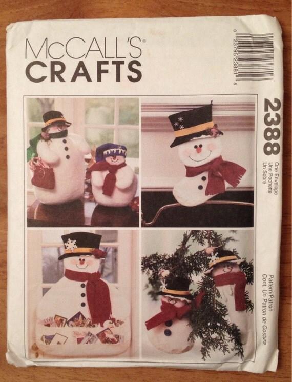 2388 craft mod le de bonhomme de neige patron mccall coudre - Modele bonhomme de neige ...
