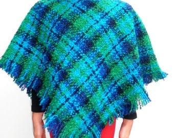 Vintage Wool Boucle Poncho - Sizes 2-6